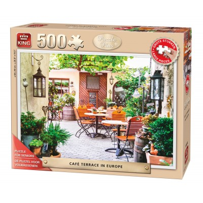 Puzzle King-Puzzle-05532 XXL Teile - Café Terrace in Europe
