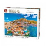 Puzzle  King-Puzzle-05712 Fishing Boats, Hydra Island, Griechenland