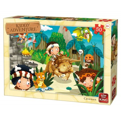 Puzzle King-Puzzle-05792 Kiddy Adventure - Höhlenmensch