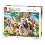 Puzzle  King-Puzzle-55846 Puppies and Friends