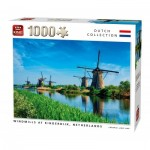 Puzzle  King-Puzzle-55885 Windmills Kinderdijk Netherlands
