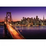 Puzzle  KS-Games-11376 Brigitte Peyton: San Francisco Bridge at Sunset
