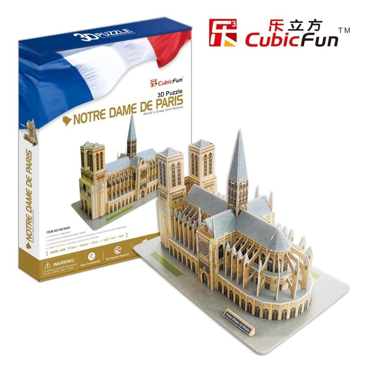 cubic-fun-puzzle-3d-notre-dame-in-paris-128-teile-puzzle-cubic-fun-mc054h