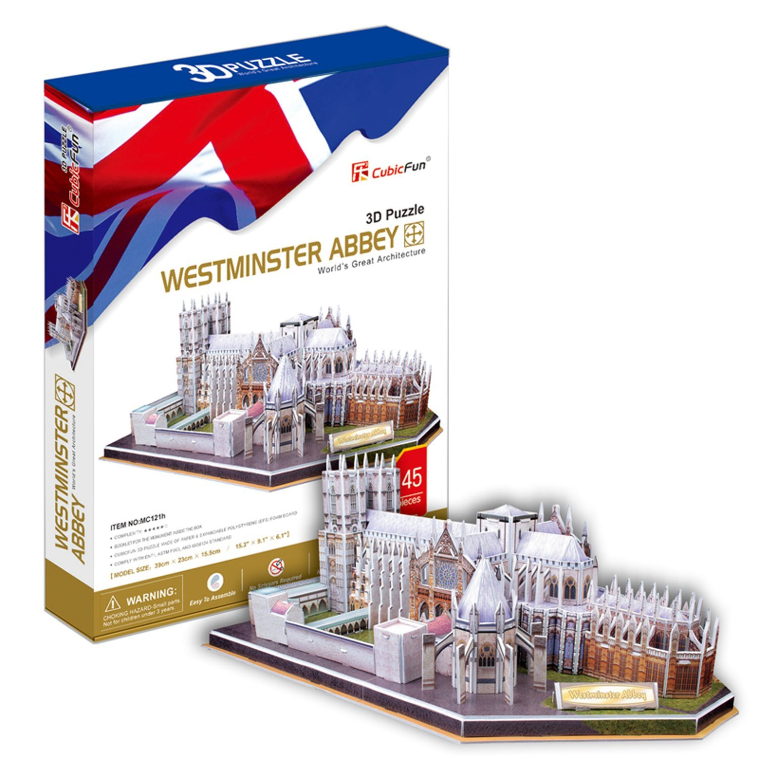cubic-fun-puzzle-3d-westminster-abbey-london-145-teile-puzzle-cubic-fun-mc121h