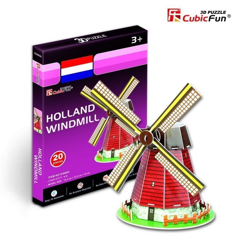 cubic-fun-puzzle-3d-mini-windmuhle-holland-20-teile-puzzle-cubic-fun-s3005h