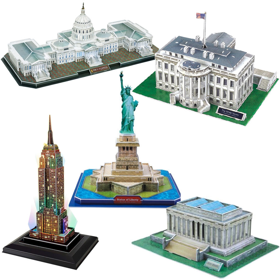 cubic-fun-5-3d-puzzles-set-usa-333-teile-puzzle-cubic-fun-set-usa