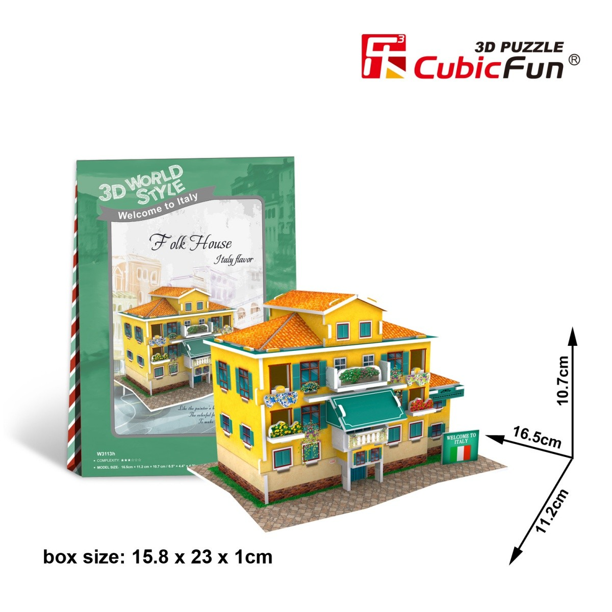 cubic-fun-3d-puzzle-world-style-welcome-to-italy-26-teile-puzzle-cubic-fun-w3113h