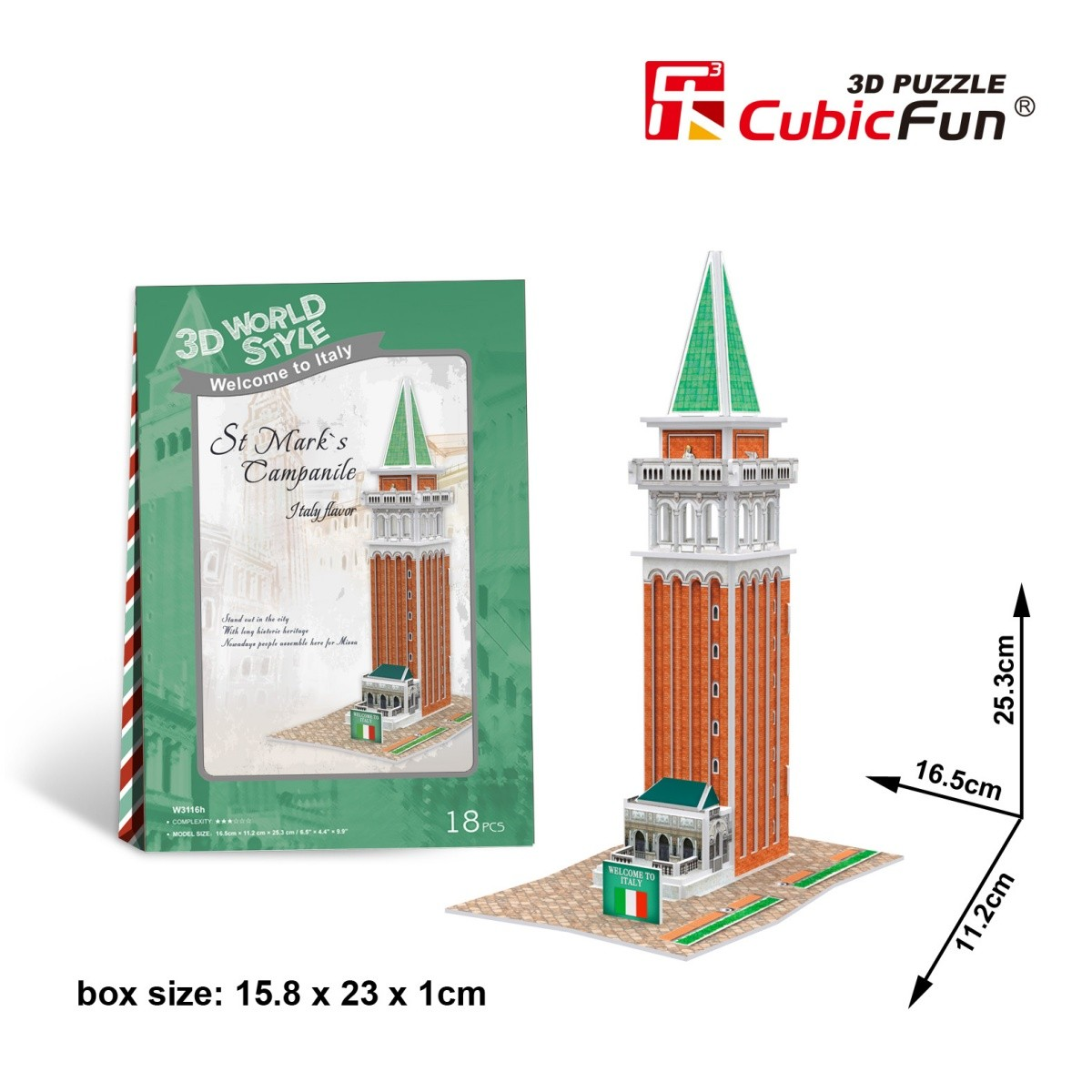 cubic-fun-3d-puzzle-world-style-welcome-to-italy-18-teile-puzzle-cubic-fun-w3116h