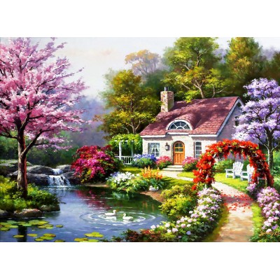 Ausgefallenkreatives - Perre Anatolian Spring Cottage In Full Bloom 1500 Teile Puzzle Perre Anatolian 4556 - Onlineshop Puzzle.de