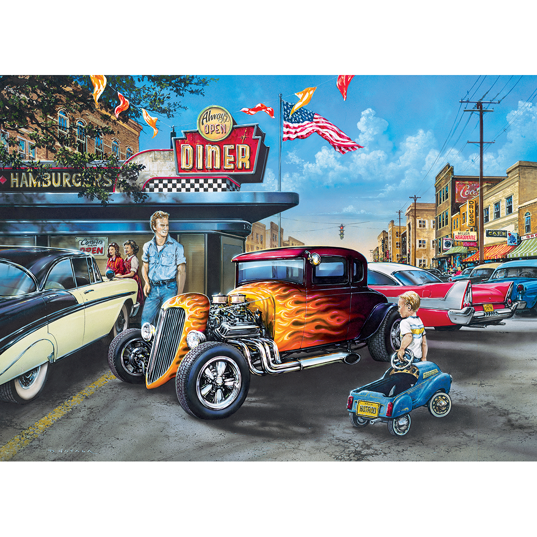 Master Pieces Hot Rods and Milkshakes 1000 Teile Puzzle Master-Pieces-71811