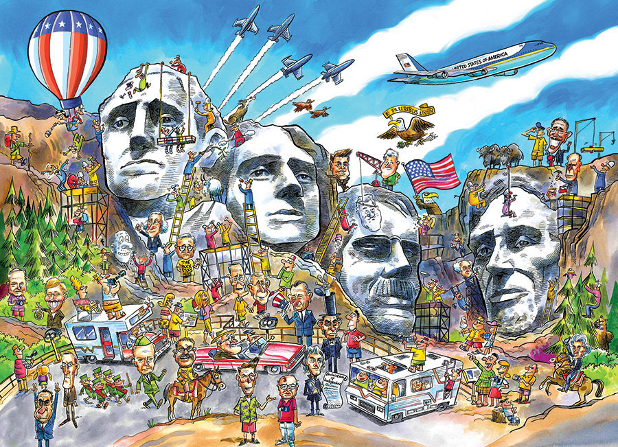 cobble-hill-outset-media-doodletown-mount-rushmore-1000-teile-puzzle-cobble-hill-57175