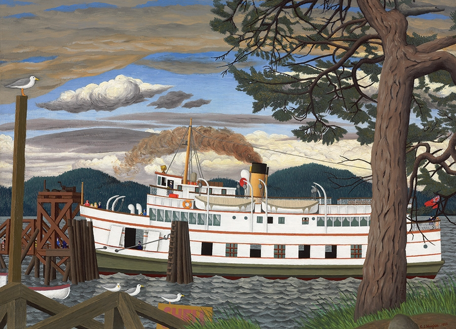 cobble-hill-outset-media-ej-hughes-the-car-ferry-at-sidney-bc-1000-teile-puzzle-cobble-hill-5101