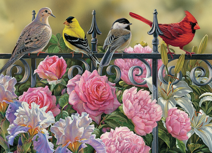 Rosemary Millette - Birds on a Fence