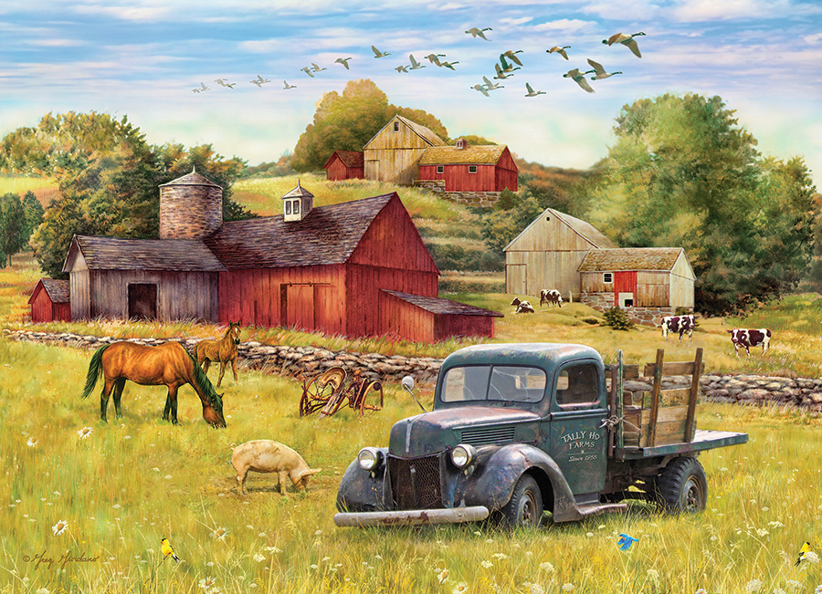 cobble-hill-outset-media-summer-afternoon-on-the-farm-1000-teile-puzzle-cobble-hill-80002