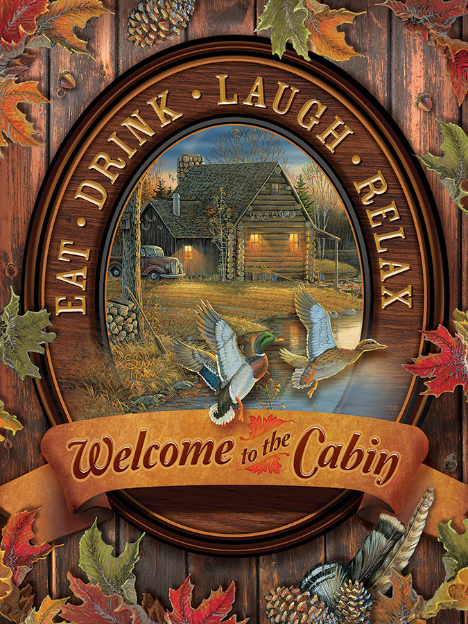 cobble-hill-outset-media-xxl-teile-welcome-to-the-cabin-275-teile-puzzle-cobble-hill-88005
