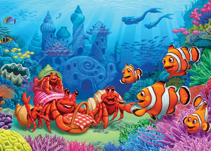 cobble-hill-outset-media-clownfish-gathering-35-teile-puzzle-cobble-hill-58882