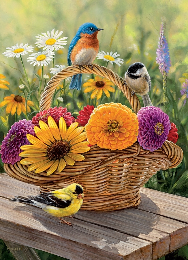 Cobble Hill / Outset Media Bluebird and Bouquet 35 Teile Puzzle Cobble-Hill-58886