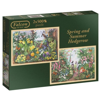 Ausgefallenkreatives - Falcon 2 Puzzles Spring and Summer Hedgerow 500 Teile Puzzle Jumbo 11104 - Onlineshop Puzzle.de