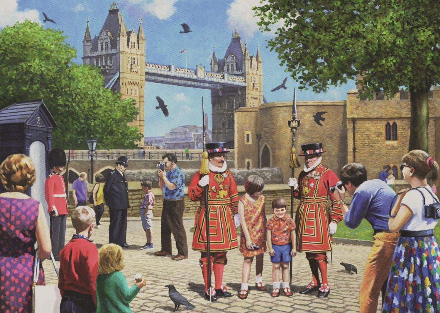 falcon-kevin-walsh-beefeaters-at-the-tower-1000-teile-puzzle-jumbo-11177