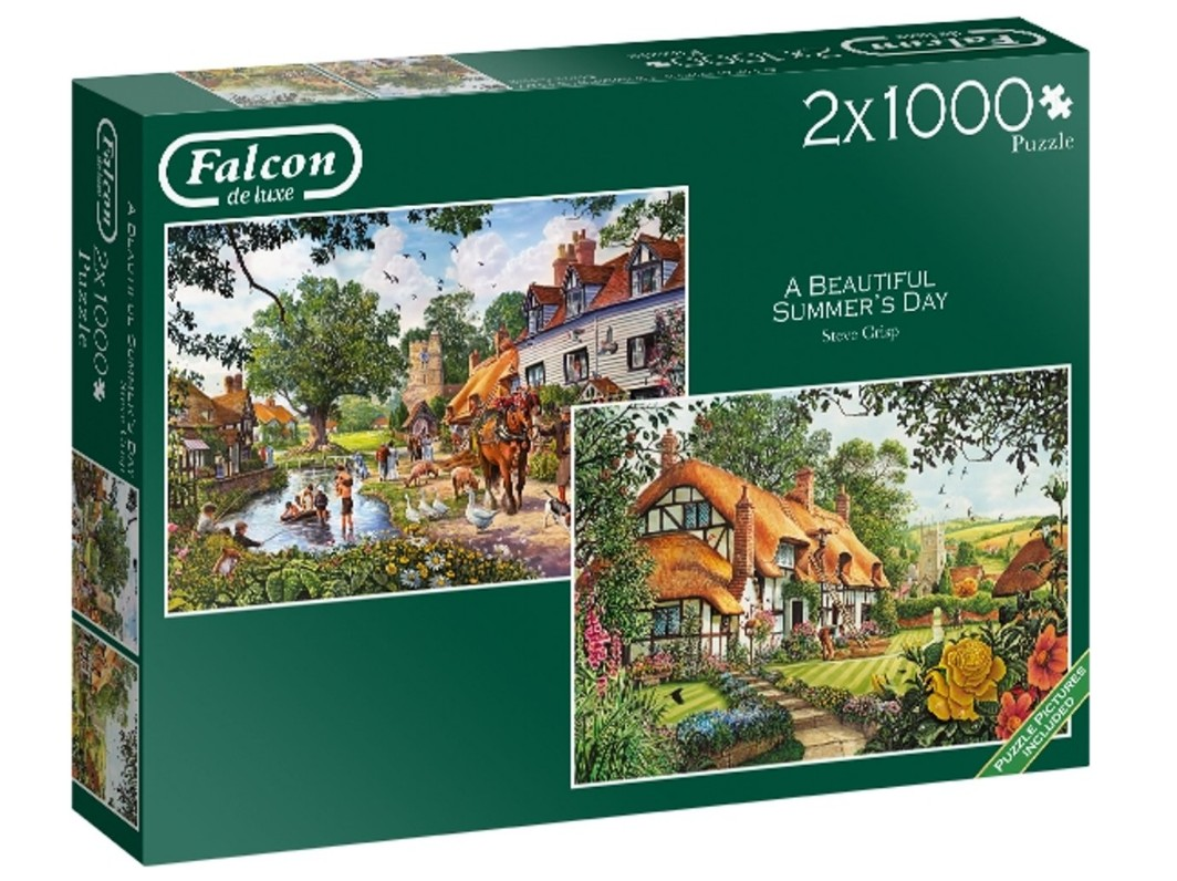 falcon-2-puzzles-beautiful-summers-day-1000-teile-puzzle-jumbo-11248