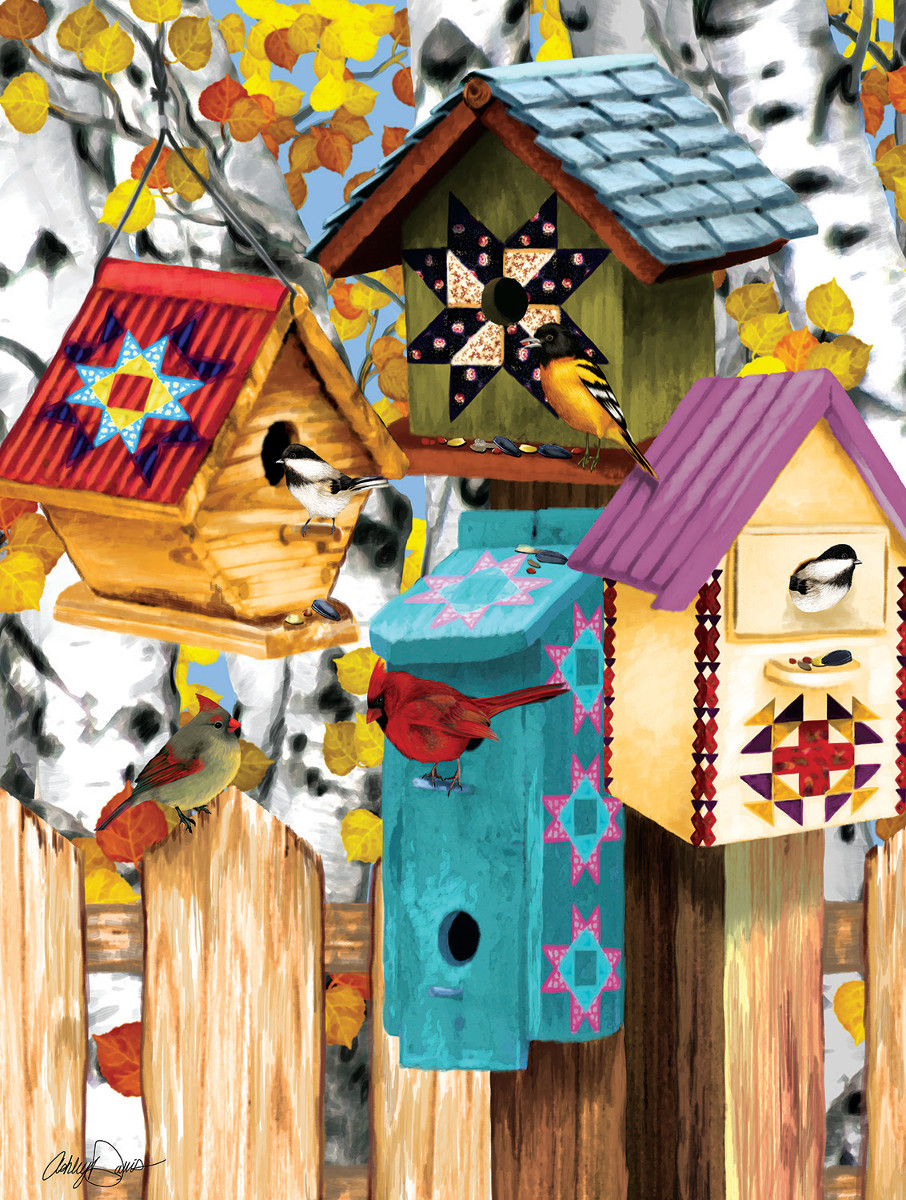 Ashley Davis - Fall Birdhouses