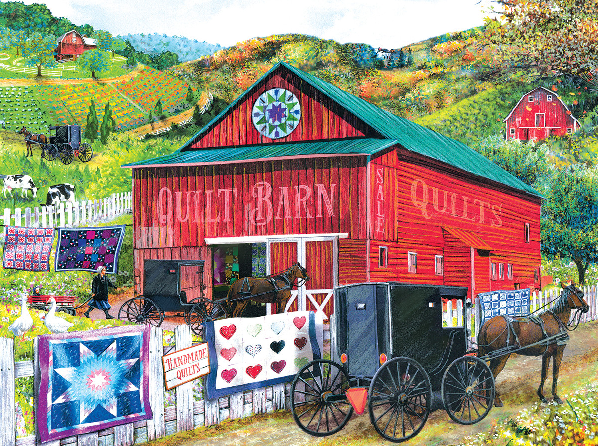 sunsout-tom-wood-stopping-at-the-quilt-barn-1000-teile-puzzle-sunsout-28785