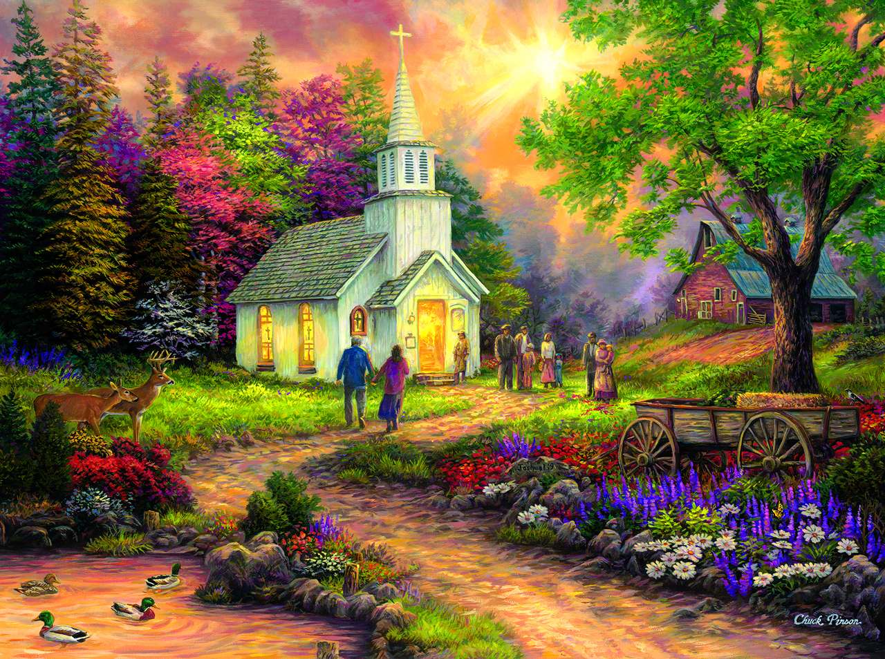 sunsout-chuck-pinson-country-church-1000-teile-puzzle-sunsout-33706