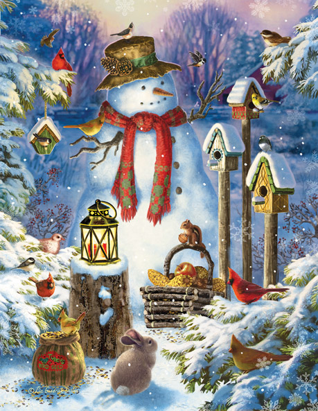 sunsout-xxl-teile-liz-goodrich-dillon-snowman-in-the-wild-1000-teile-puzzle-sunsout-59794