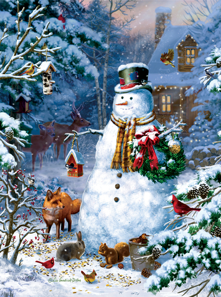 sunsout-liz-goodrick-dillon-winter-cabin-snowman-1000-teile-puzzle-sunsout-59796