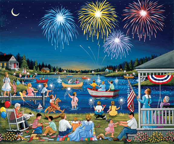 sunsout-sheila-lee-lakeside-on-the-fourth-of-july-1000-teile-puzzle-sunsout-61342