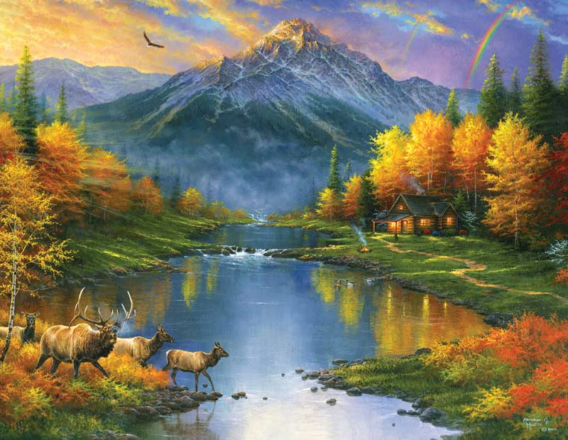 sunsout-xxl-teile-abraham-hunter-mountain-retreat-1000-teile-puzzle-sunsout-69611