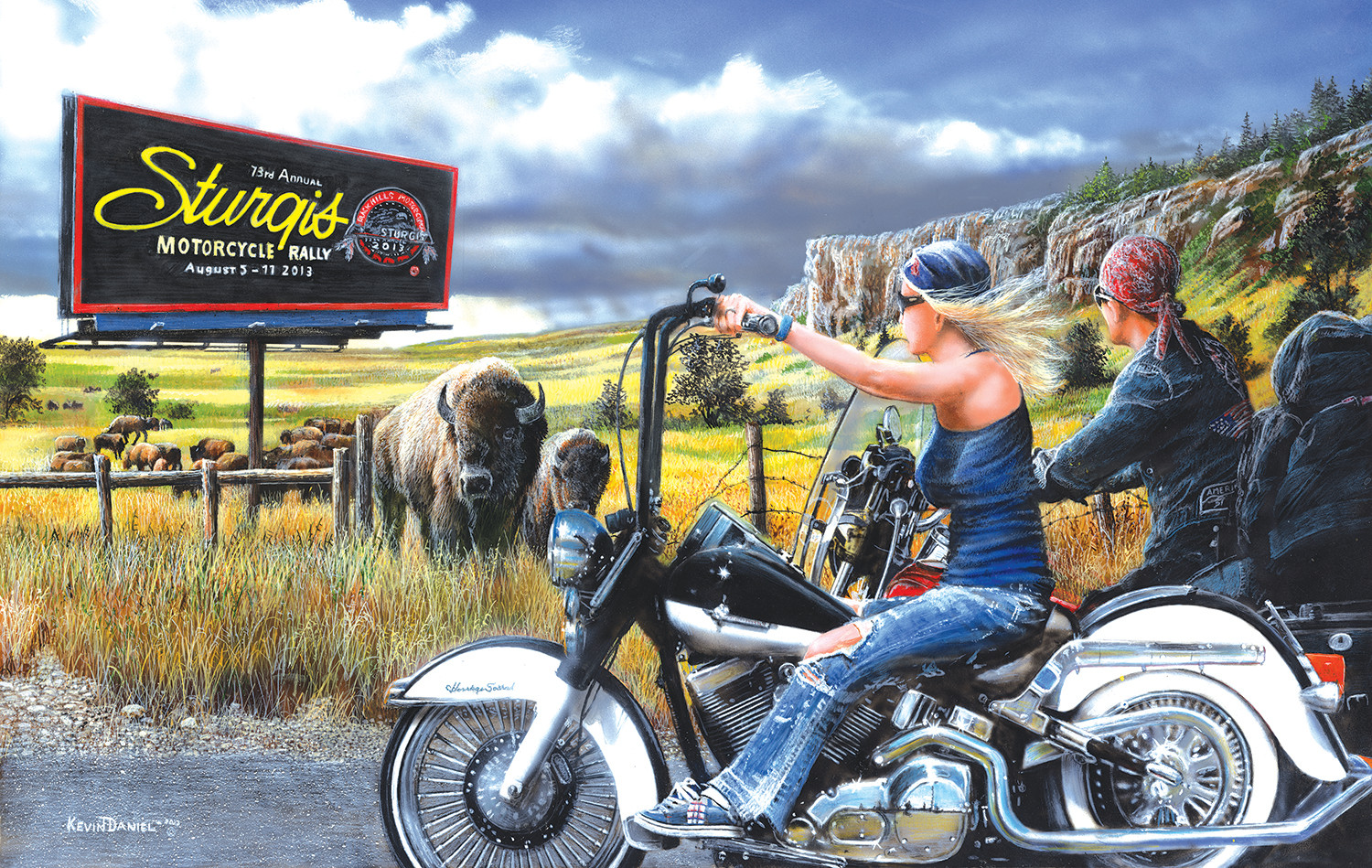 sunsout-kevin-daniel-heading-for-sturgis-550-teile-puzzle-sunsout-57768