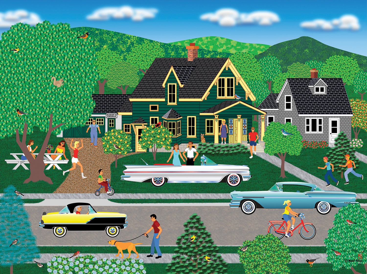 sunsout-mark-frost-nellies-new-car-1000-teile-puzzle-sunsout-22636