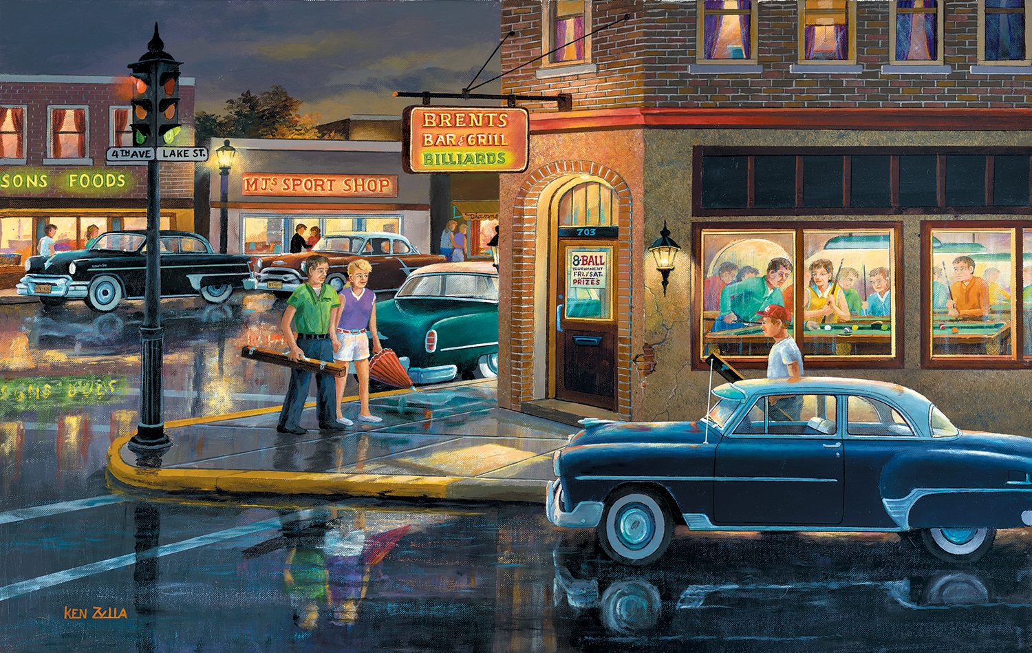 sunsout-ken-zylla-small-town-saturday-night-550-teile-puzzle-sunsout-37767