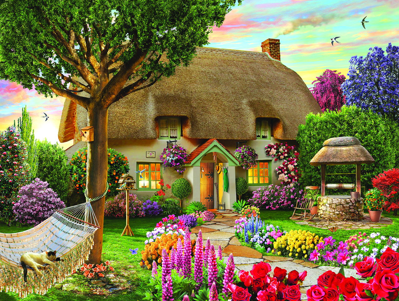 sunsout-adrian-cherterman-wishing-well-cottage-1000-teile-puzzle-sunsout-48624