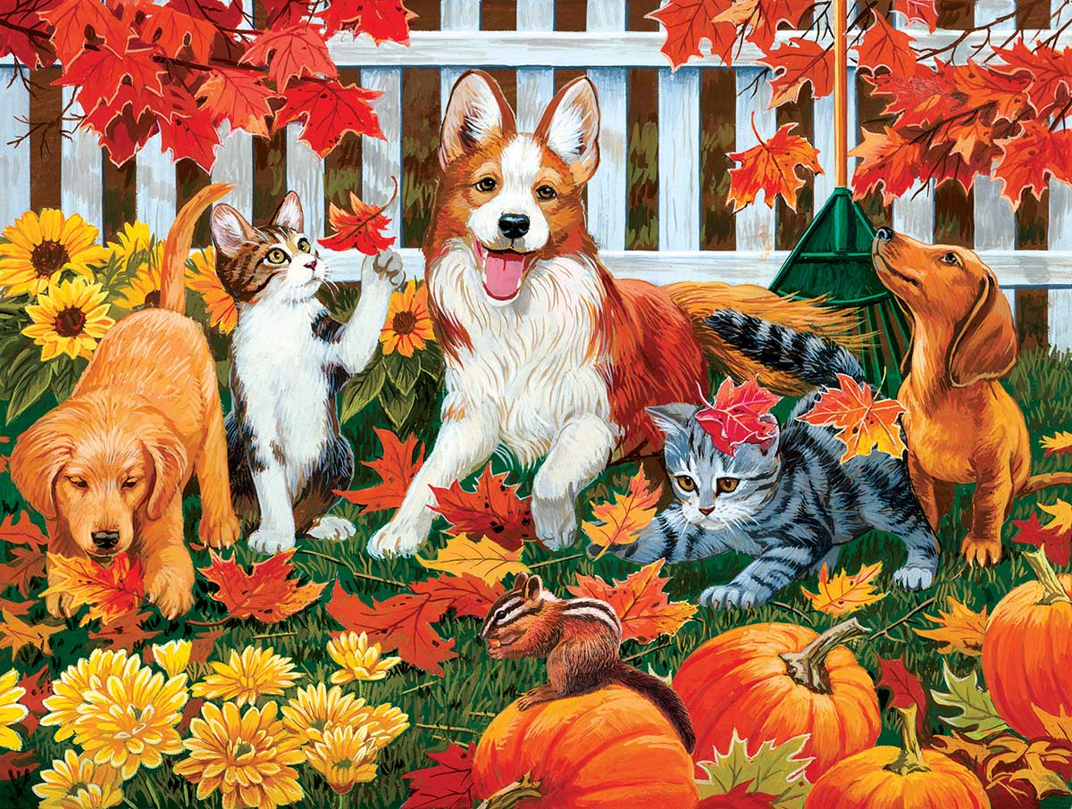 sunsout-xxl-teile-the-leaf-collectors-300-teile-puzzle-sunsout-30407