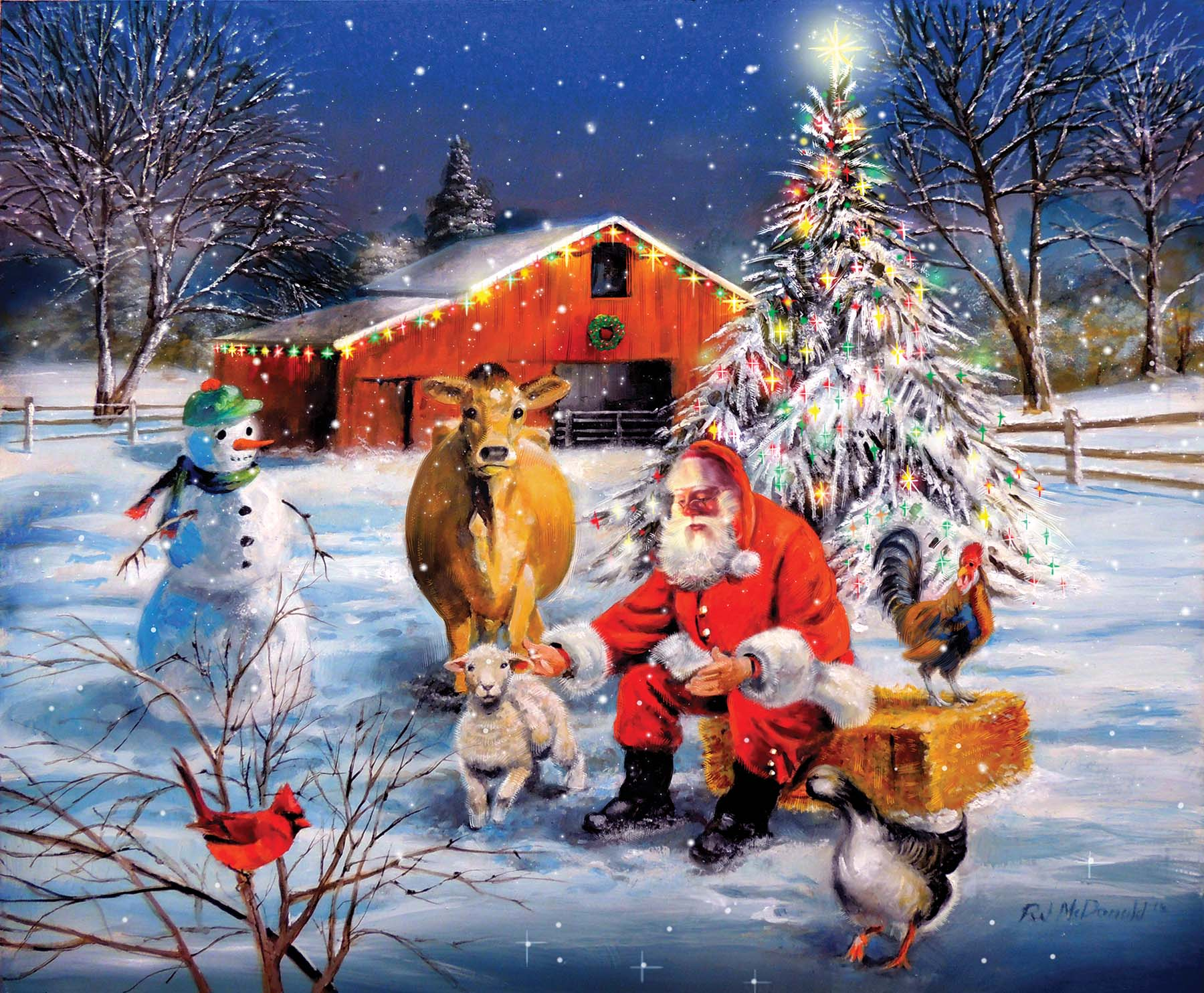 sunsout-xxl-teile-santa-at-the-farm-300-teile-puzzle-sunsout-37996