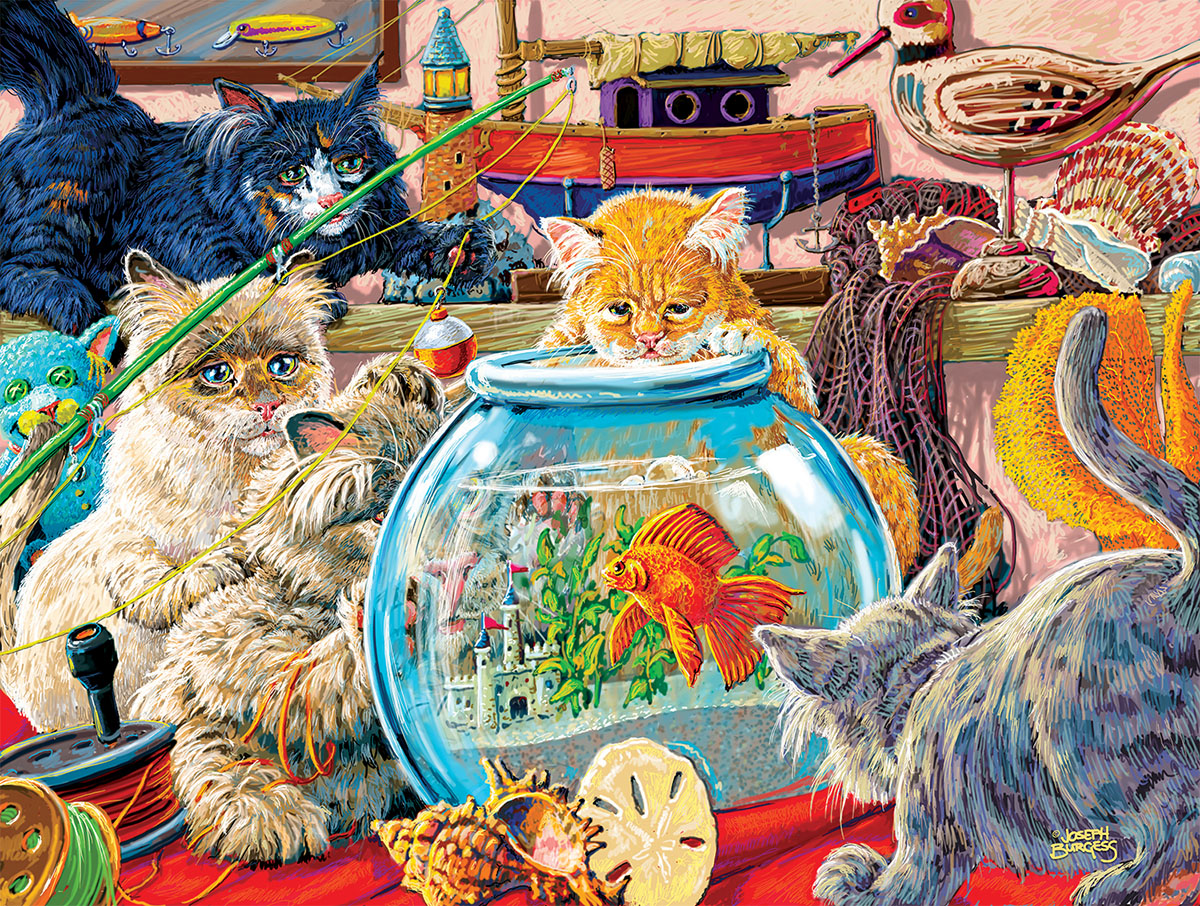 sunsout-xxl-teile-somethings-fishy-300-teile-puzzle-sunsout-38929, 9.95 EUR @ puzzle-de