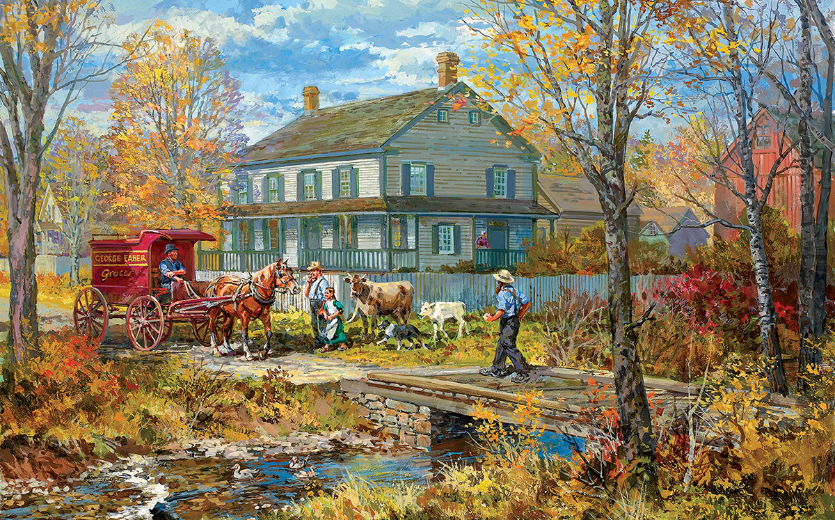 sunsout-xxl-teile-autumn-at-the-schneider-house-300-teile-puzzle-sunsout-54637