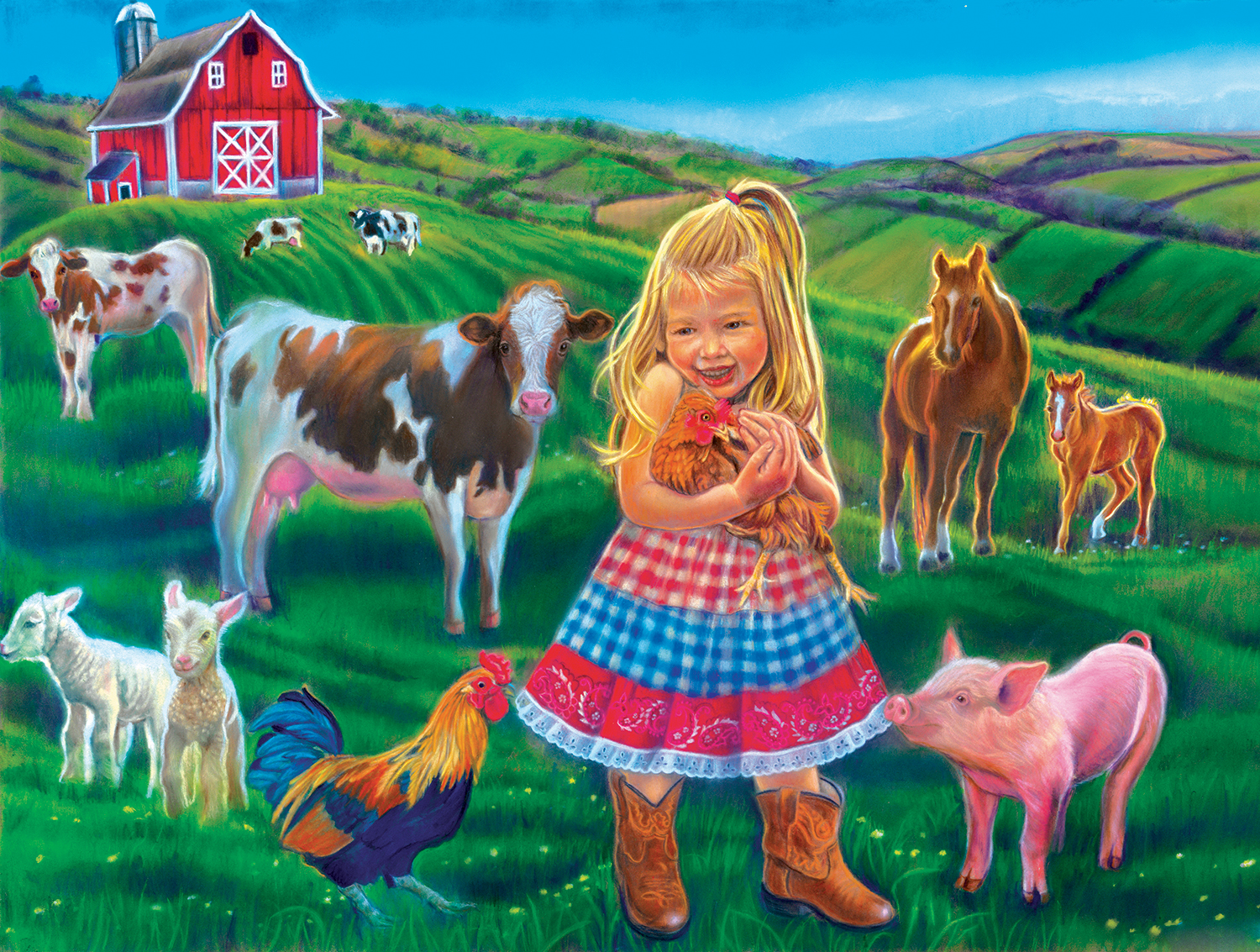sunsout-xxl-teile-tricia-reilly-matthews-fun-on-the-farm-300-teile-puzzle-sunsout-35961