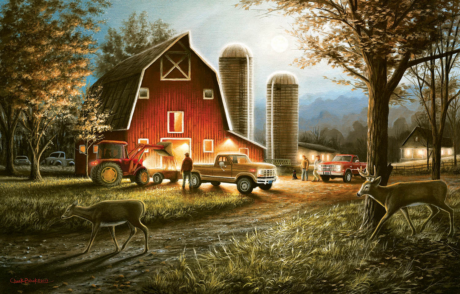 sunsout-chuck-black-harvest-nights-550-teile-puzzle-sunsout-55193