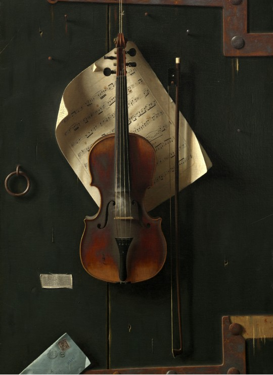 William Michael Harnett: The Old Violin, 1886
