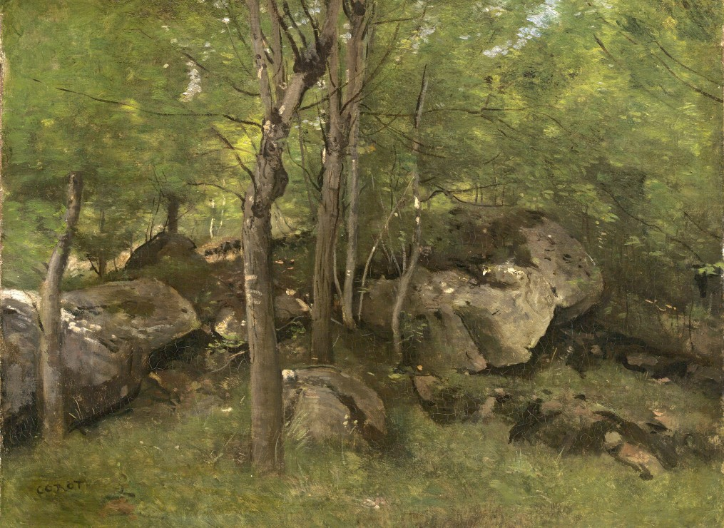 grafika-jean-baptiste-camille-corot-rocks-in-the-forest-of-fontainebleau-1860-1865-300-teile-puzzl