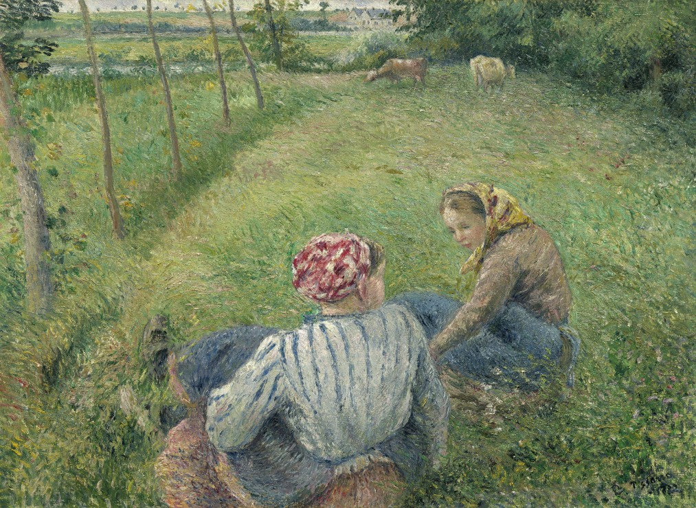 grafika-camille-pissarro-young-peasant-girls-resting-in-the-fields-near-pontoise-1882-300-teile-pu
