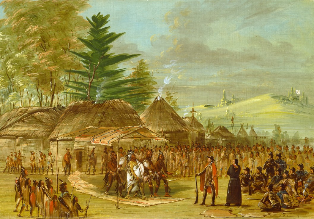 George Catlin: Chief of the Taensa Indians Rece...