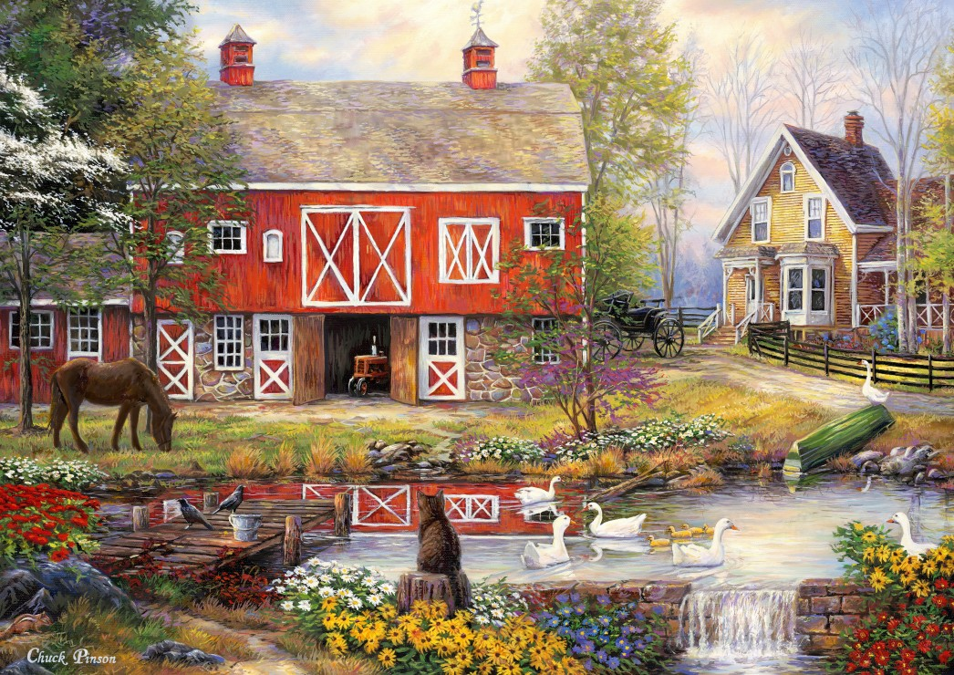 grafika-chuck-pinson-reflections-on-country-living-2000-teile-puzzle-grafika-t-00759