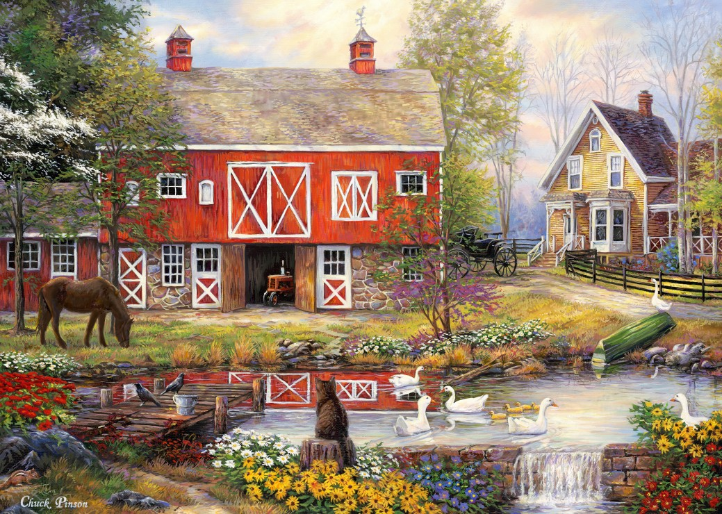 grafika-chuck-pinson-reflections-on-country-living-500-teile-puzzle-grafika-t-00762