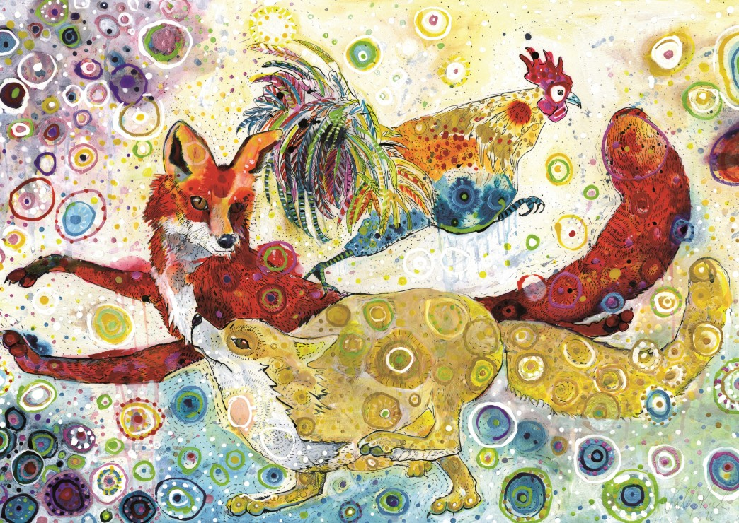 grafika-sally-rich-leaping-foxs-2000-teile-puzzle-grafika-t-00879