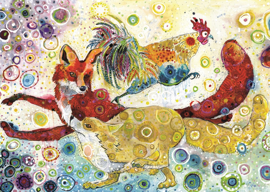 grafika-sally-rich-leaping-foxs-500-teile-puzzle-grafika-t-00882