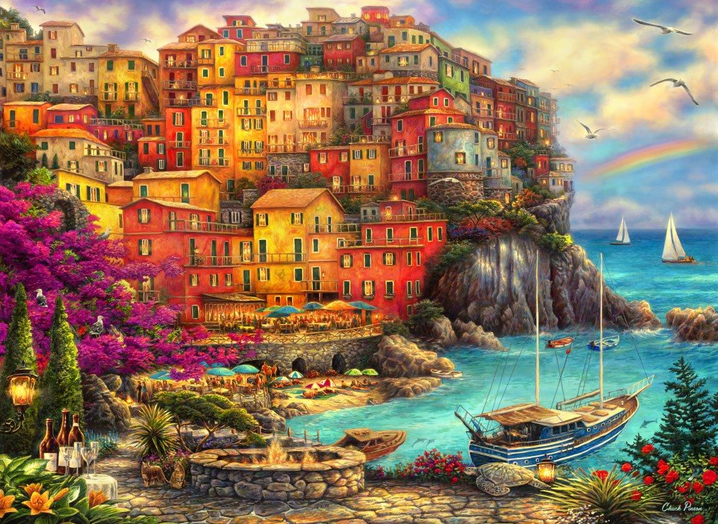 grafika-chuck-pinson-a-beautiful-day-at-cinque-terre-300-teile-puzzle-grafika-02902